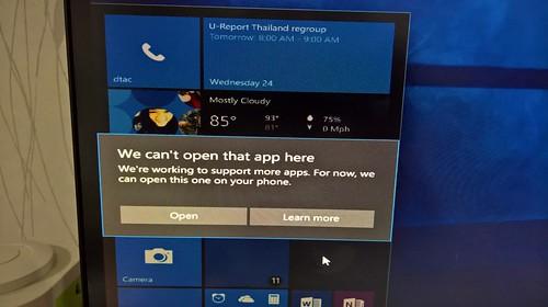 แอปหลายๆ ตัว ยังไม่รองรับ Windows Continuum