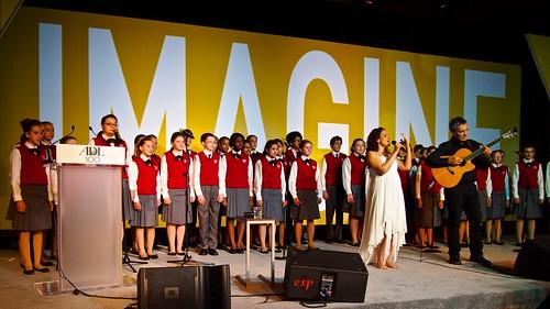 International Artist Noa Performs Imagine at the @ADL_National Centennial Celebration