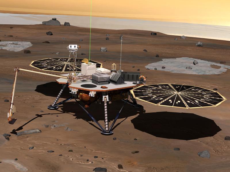 Phoenix Mars Lander, 2007-2008