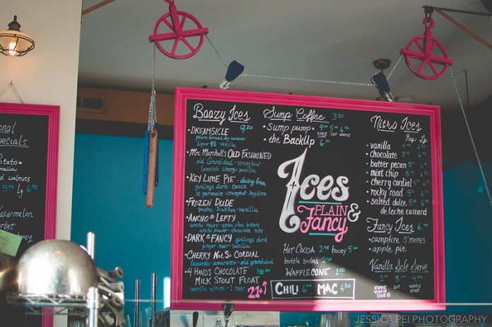 Ices Plain & Fancy Menu