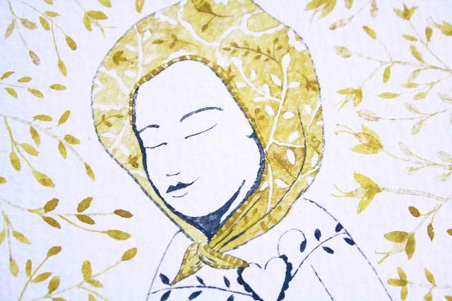 mellow stella pereira illustration detail face