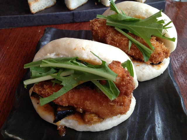 Chicken katsu and vegetable buns - Izakaya Yuzuki