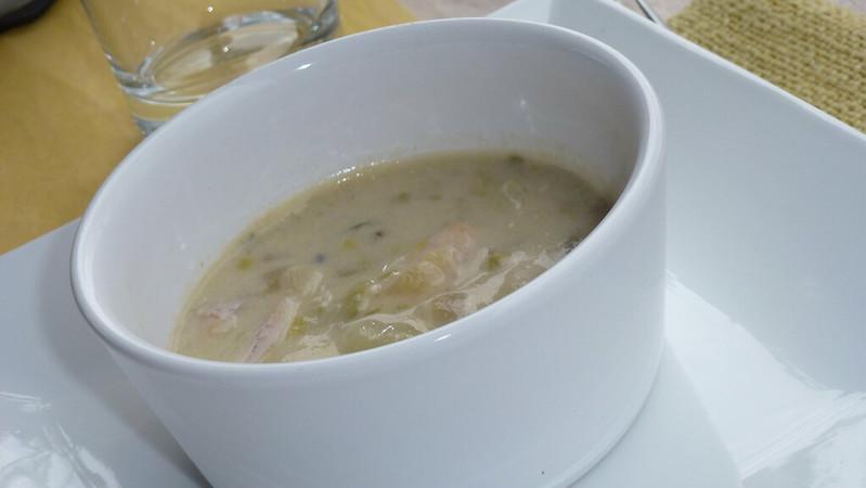 Zuppa bretone con sidro e acetosella