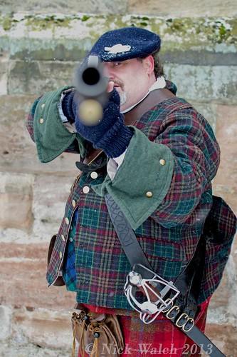 Jacobite Takes Aim (at me!) - Tutbury Castle