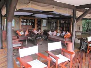 Public area at Mara Explorer with excellent views of the river