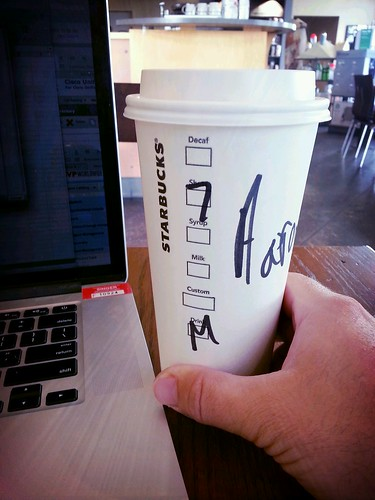7-shot Venti Mocha to kick start your day! by Aaron Paxson