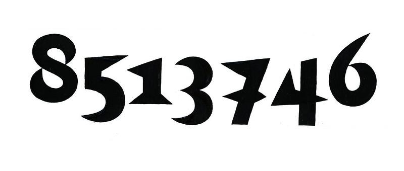 TypeCooker #4 / numbers / my interpretation of wedgeness