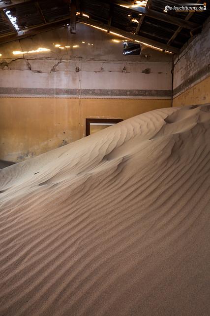 The desert had come in Kolmanskop