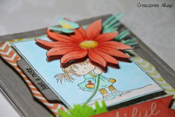 tarjeta milly flower power