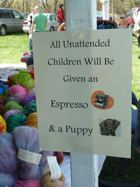 All unattended children will be given an espresso and a puppy