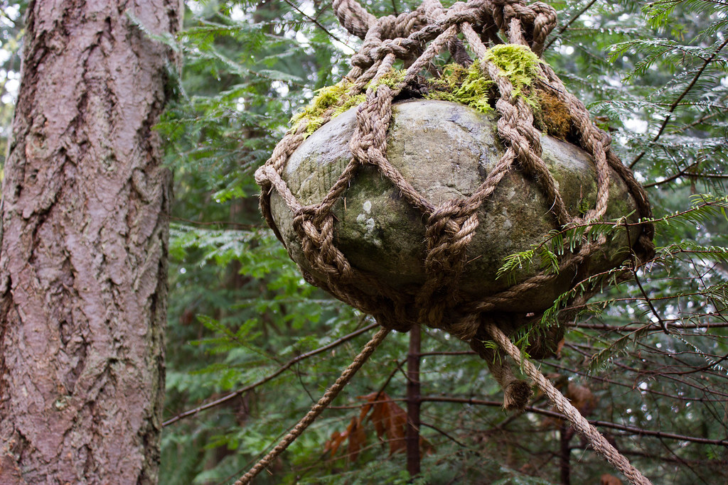 Suspended rock