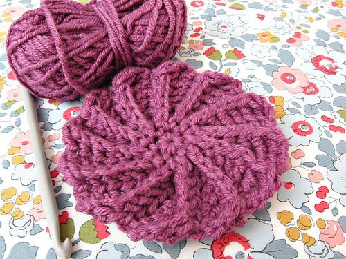 Spiral crochet motif
