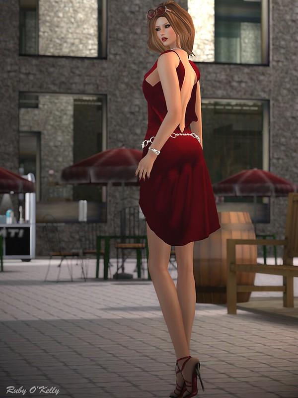 Crystal Line-Diamond dress and sandals-001