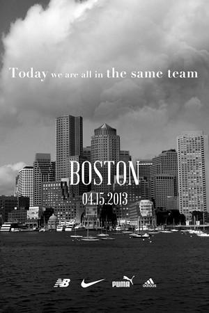 Nike, adidas, New Balance y Puma en equipo por Boston