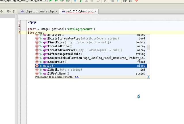 PhpStorm Code Completion