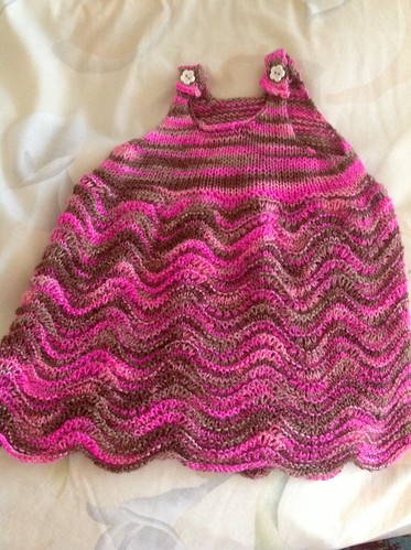 Wave baby dress