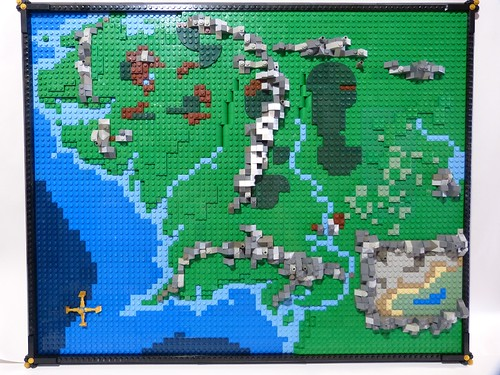 LEGO map of Middle Earth gets you from the Shire to Mordor   The     Middle Earth