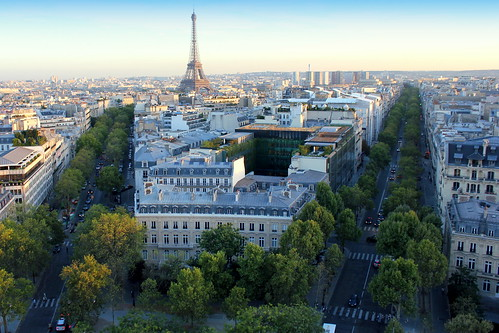 Paris views from Arc de Triomphe