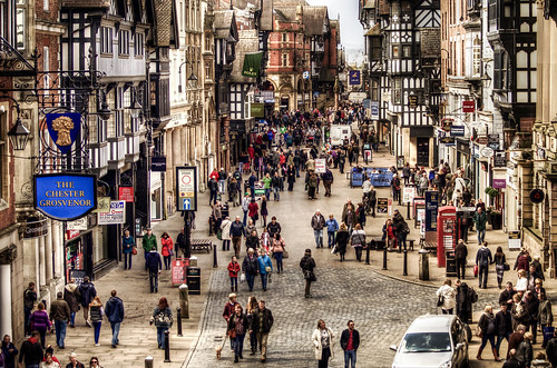 Saturday Morning In Chester by Philip R Jones