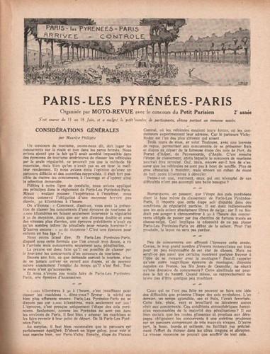 Paris - Les Pyrénées-Paris 1922