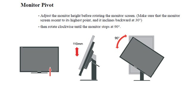 ThinkVision LT3053 screen rotation