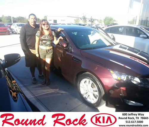 Thank you to Lupe Lewis on your new 2013 #Kia #Optima from Fidel Martinez and everyone at Round Rock Kia! #LoveMyCar by RoundRockKia