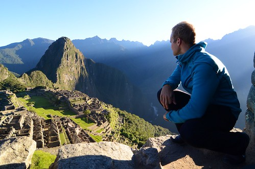 Mathias gazing at Machu Picchu