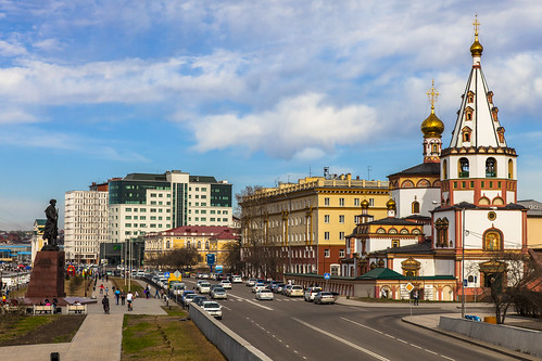 Centre of Irkutsk in early May 2013