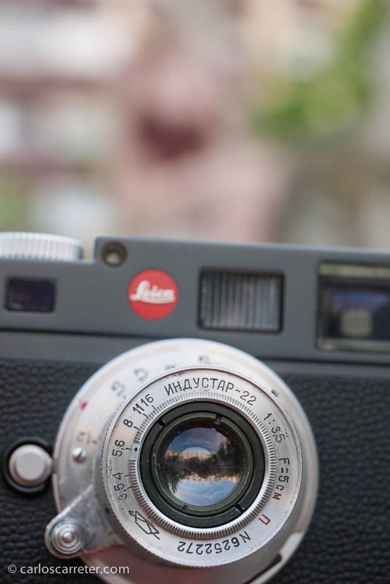 Industar 5cm 1:3,5 en Leica M-E