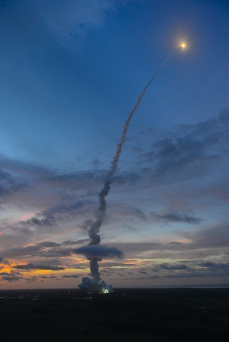 Liftoff of Ariane 5 VA213 with ATV-4 by europeanspaceagency