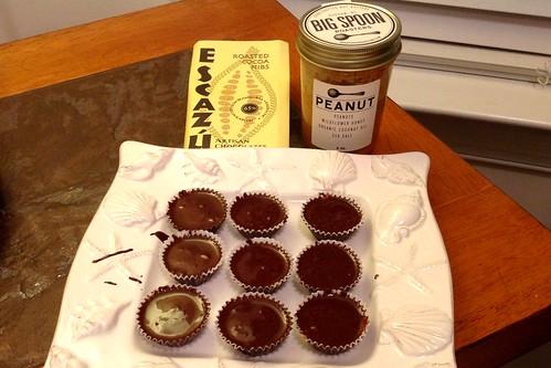 Peanut Butter Cups with Big Spoon Peanut Butter & Escazu Chocolate