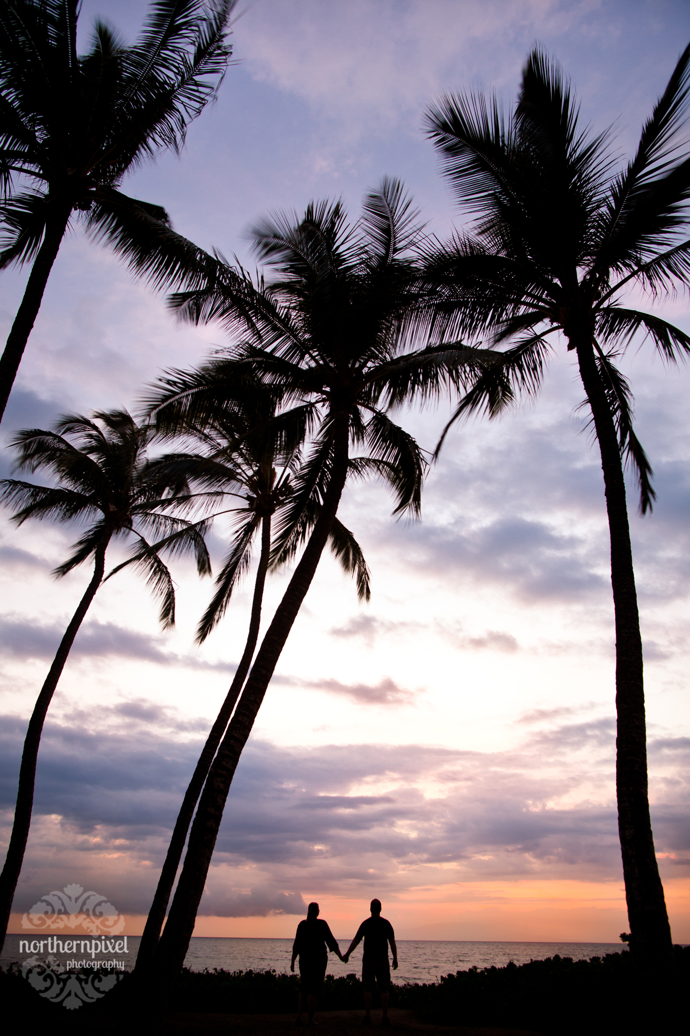 Mokapu Beach Sunset Silhouette