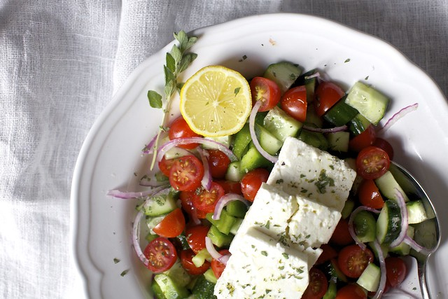 simplest greek salad
