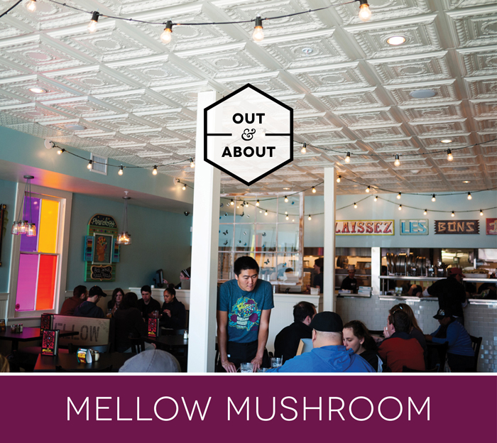 Out & About Mellow Mushroom New Orleans