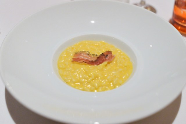Butternut Squash Risotto, Sage Powder, Parmesan, lberico Ham