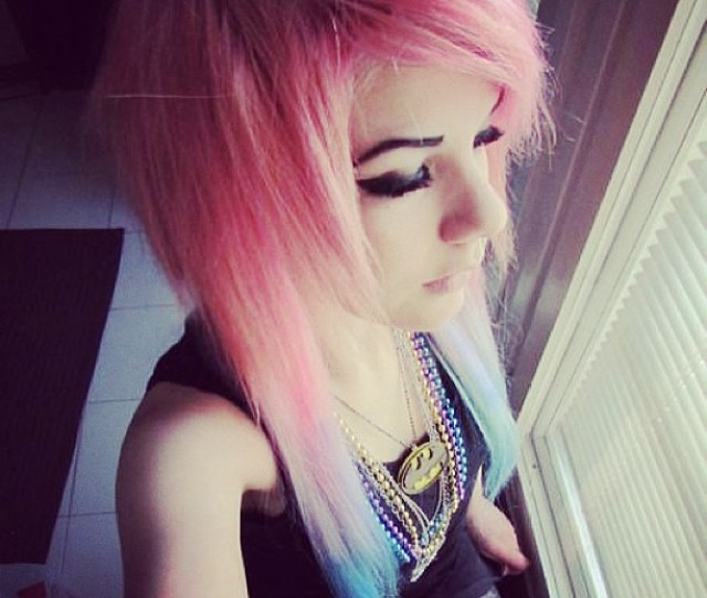 Emo Girl Hair Blowjob Red