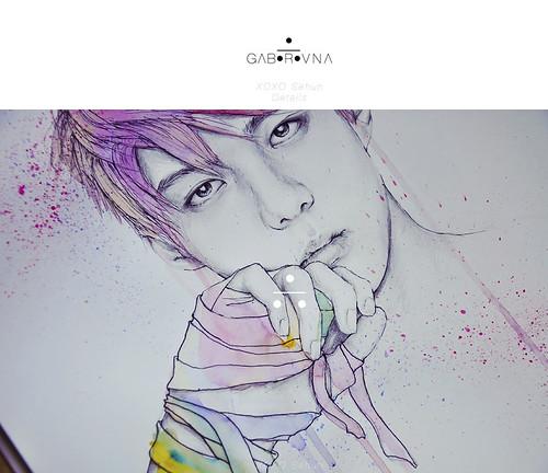 XOXO Sehun fanart - Detail