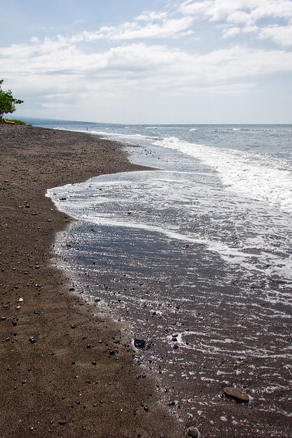 The black sands of Amed, Bali.