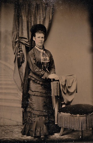 Tiny Mourner, Tinype, Circa 1880