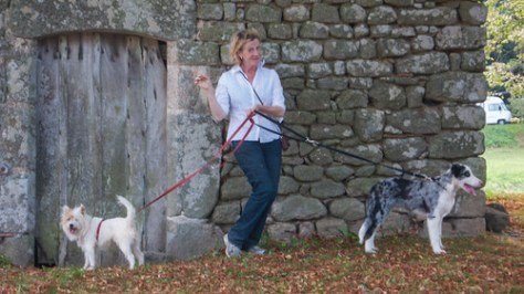 France, one woman and her dogs