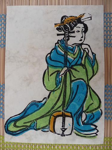 Linocut print