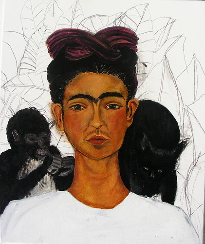 Frida Kahlo Self-Portrait 1940 Study WIP #7