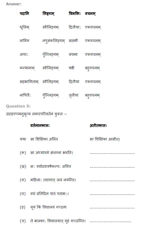 NCERT Solutions for Class 8th Sanskrit