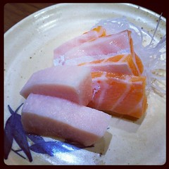Extra serving of swordfish and salmon belly