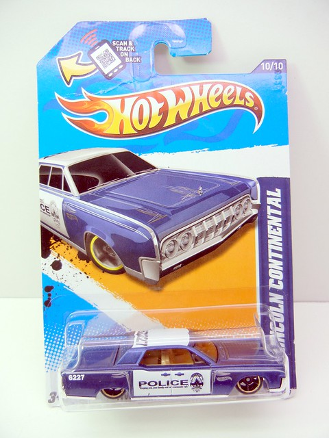 hot wheels '64 lincoln continental police blue (1)
