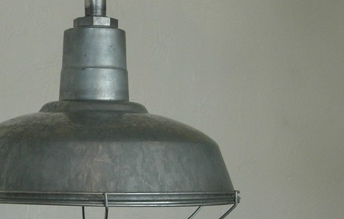 "SET OF THREE GALVANIZED BARN LIGHTS WITH CAGE GUARDS/GOOSENECKS 14"" DIAMETER VISIT MY EBAY STORE APPLETON ESALES by abb_christine"