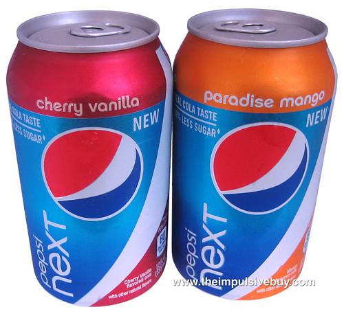 Cherry Vanilla Pepsi Next & Paradise Mango Pepsi Next