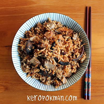 Cook For Family - Yam Rice with Lotus Root Soup. - KeropokMan
