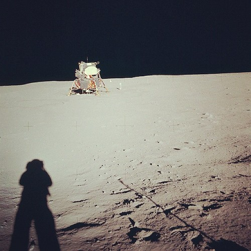 Farewell, Neil Armstrong (1930 - 2012). Apollo 11 Mission image - View of the Lunar Module at Tranquility Base. Image taken by Astronaut Neil A. Armstrong during the Apollo 11 Mission. Armstrongs shadow is visible in foreground. Credit: NASA
