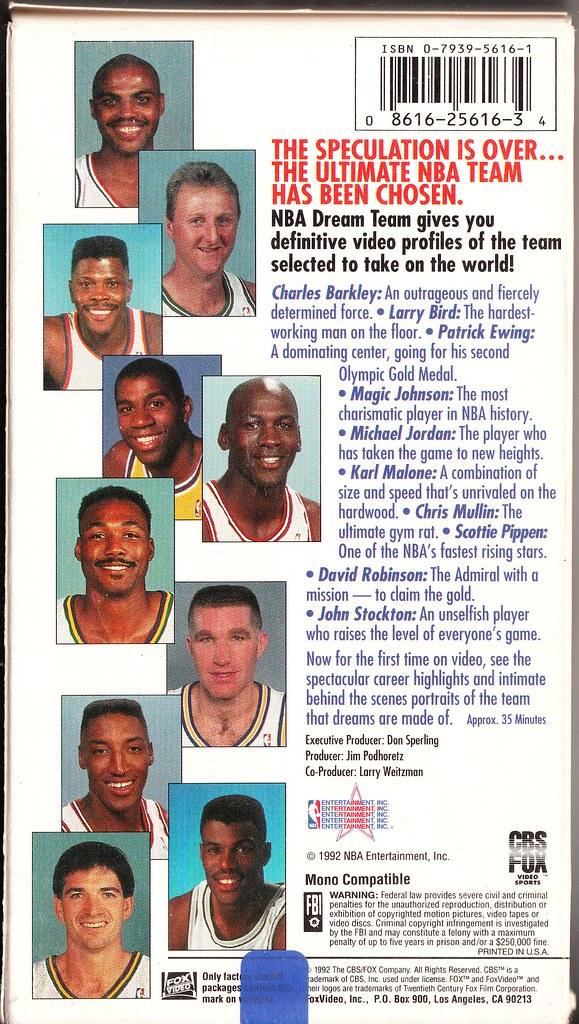 NBA Dream Team back